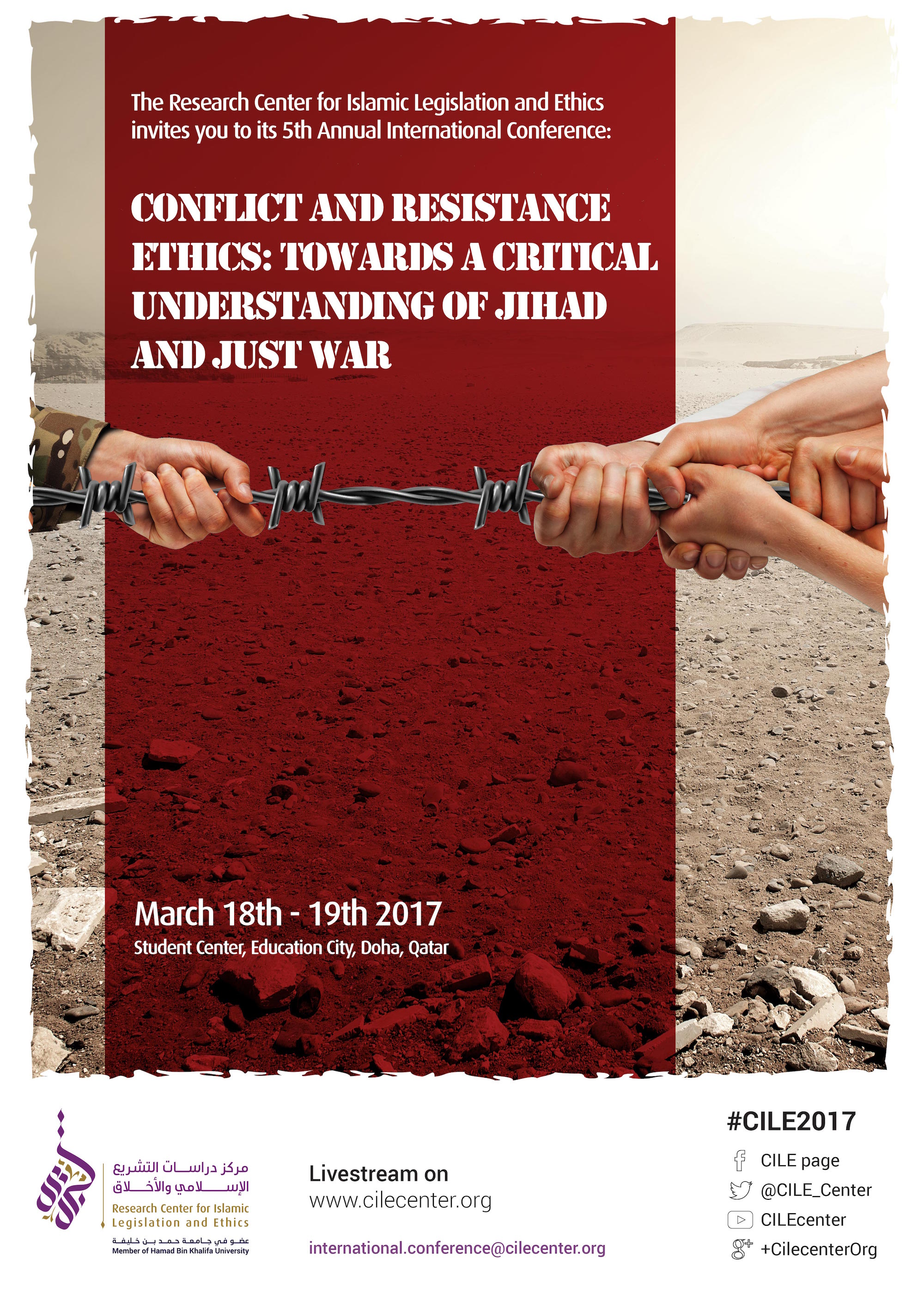03/2017 Conflict and Resistance Ethics: Towards a critical understanding of Jihad and Just War
