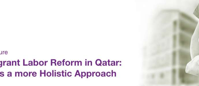 "Lecture ""The Migrant Labor Reform in Qatar: Towards a more Holistic Approach"""