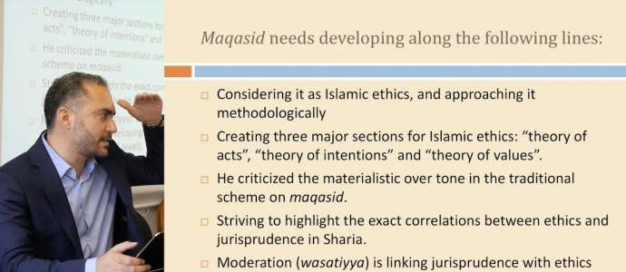 "Embedded thumbnail for D2S2 Dr Muetaz Al Khatib ""The Role of Maqasid in Developing an Islamic Ethical Theory"""